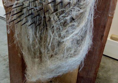Peignage mécanique du lin