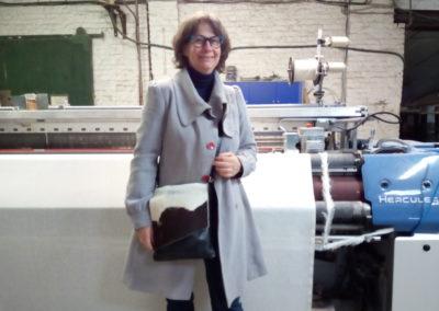 Visite à l'atelier de tissage de lin dans le Nord de la France