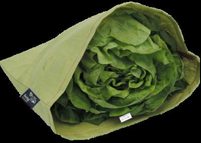 Sac à salade en lin enduit